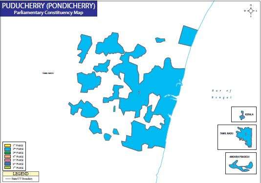 Map of Puducherry