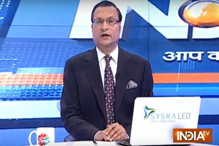 India TV Editor-in-chief Rajat Sharma