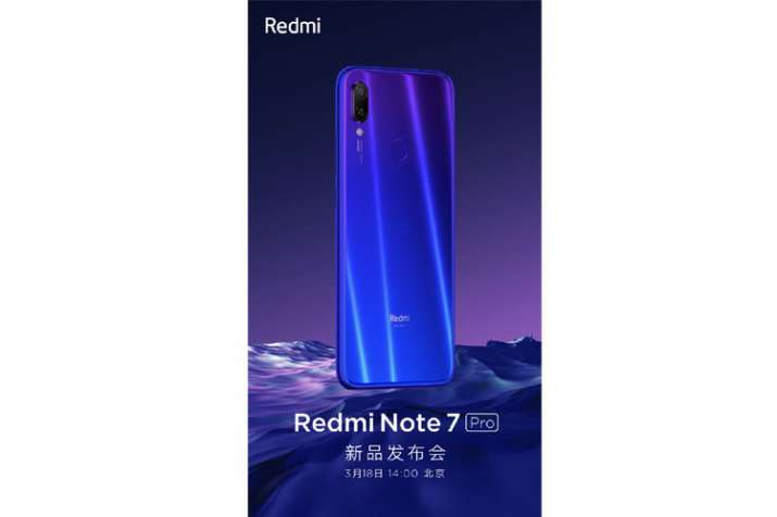 Xiaomi Redmi Note 7 Pro launching in China on March 18