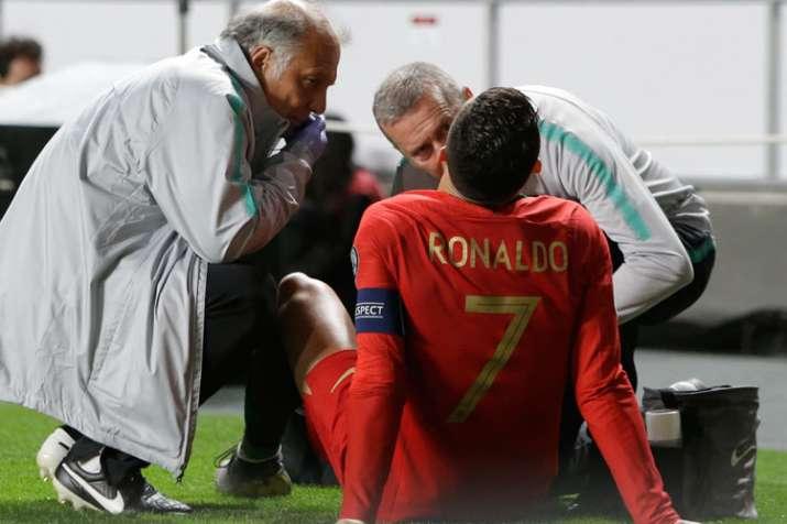 Cristiano Ronaldo injured for Portugal; big wins for France, England