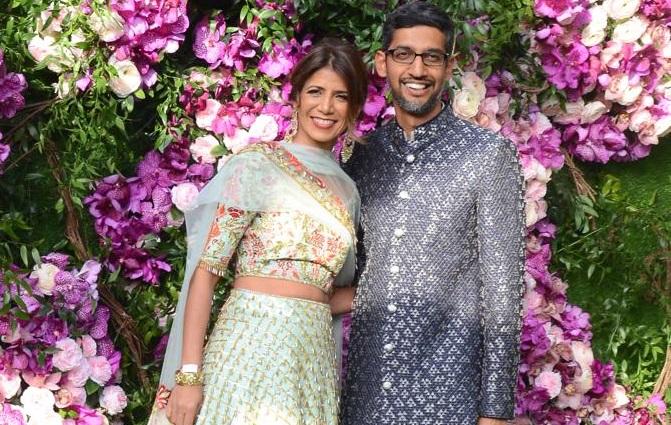 Image result for shloka mehta marriage sunder pichai