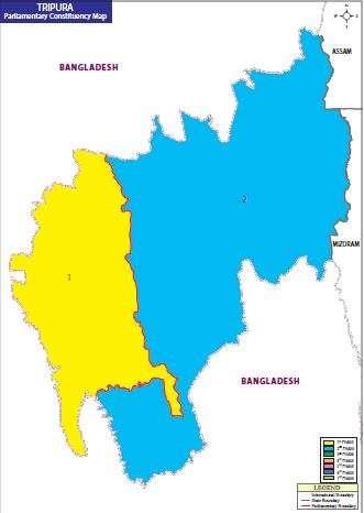 Map of Tripura