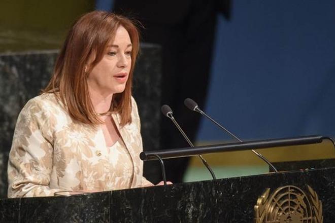 UN General Assembly President Maria Fernanda Espinosa