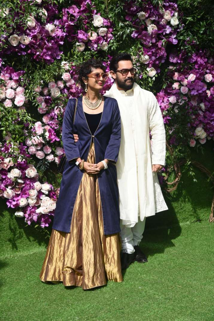 India Tv - Akash Ambani and Shloka Mehta wedding 2019: Aamir Khan and Kiran Rao