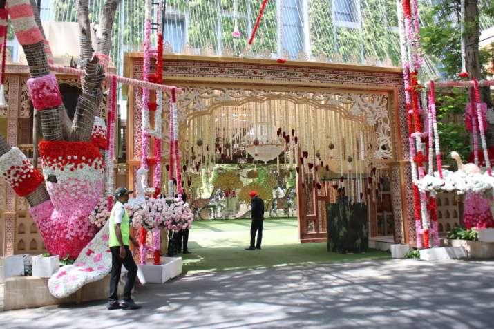 India Tv - Decorations at Antilia