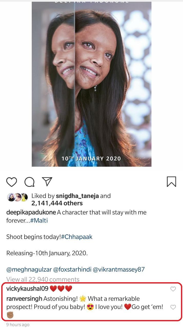 India Tv - Ranveer Singh, Priyanka Chopra, Varun Dhawan and others laud Deepika Padukone's first look