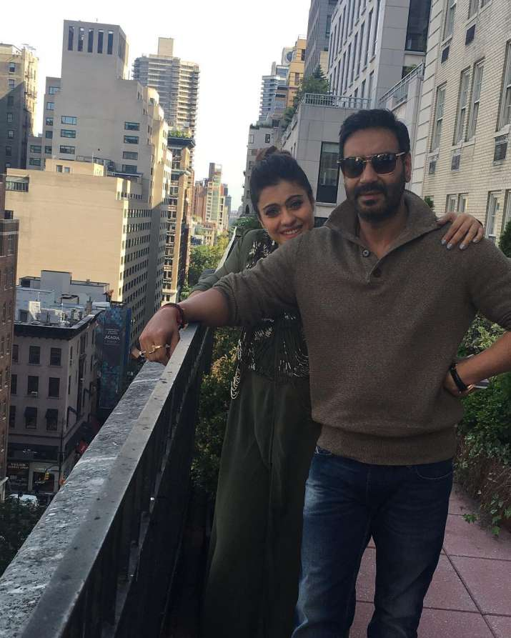 India Tv - Kajol keeps treating her fans with picture and videos with the love of her life and husband Ajay Devgn