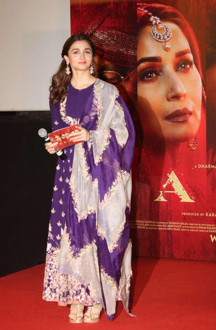 India Tv - Alia Bhatt at Kalank trailer launch