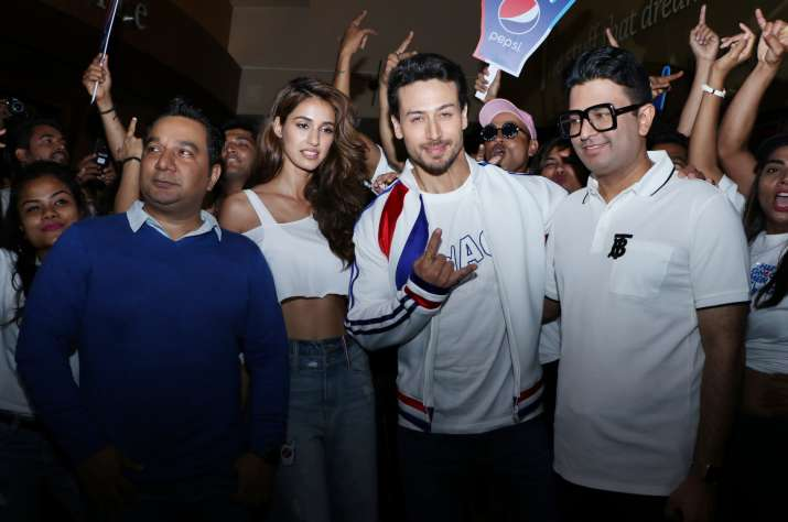 India Tv - Tiger Shroff and Disha Patani were accompanied by filmmaker Ahmed Khan