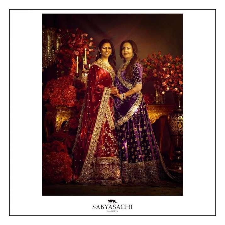 India Tv - Isha Ambani and Nita Ambani in Sabyasachi lehenga