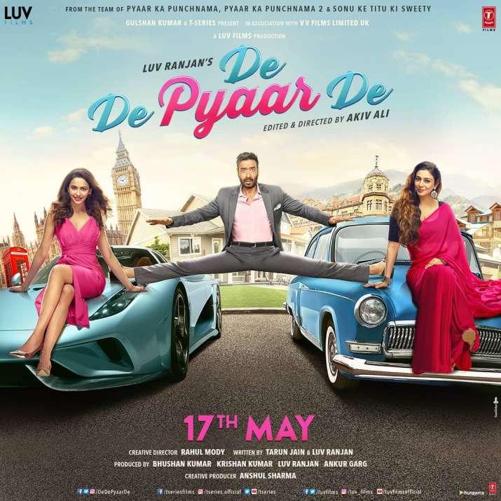 India Tv - De De Pyaar De poster, the movie is set to release on May 17