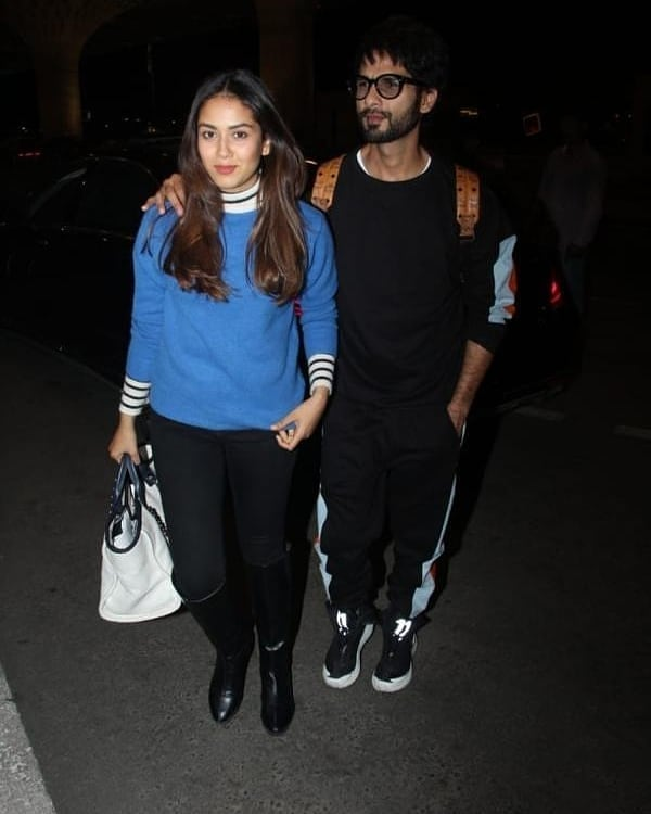 Shahid Kapoor and Mira Rajput spotted at the airport while