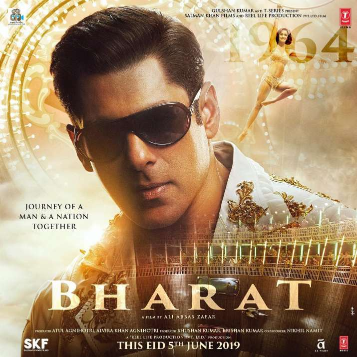 India Tv - Salman Khan's second look of Bharat : He looks young and dashing. The poster also has Disha Patani in it.