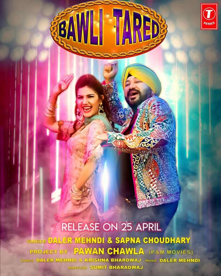 India Tv - Sapna Choudhary is all set to rock the floor with Daler Mehndi in her latest song 'Bawli Tared'
