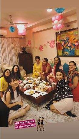 India Tv - Inside pictures, videos from Race actress Sameera Reddy's baby shower