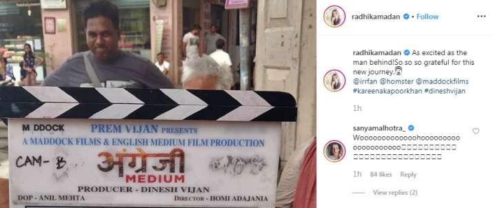 India Tv - Kareena Kapoor Khan is part of Irrfan Khan starrer Angrezi Medium, Radhika Madan confirms