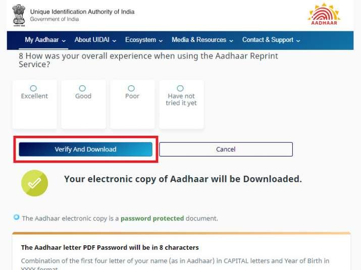 Aadhar Card Download by aadhaar number only, How To Download Aadhar