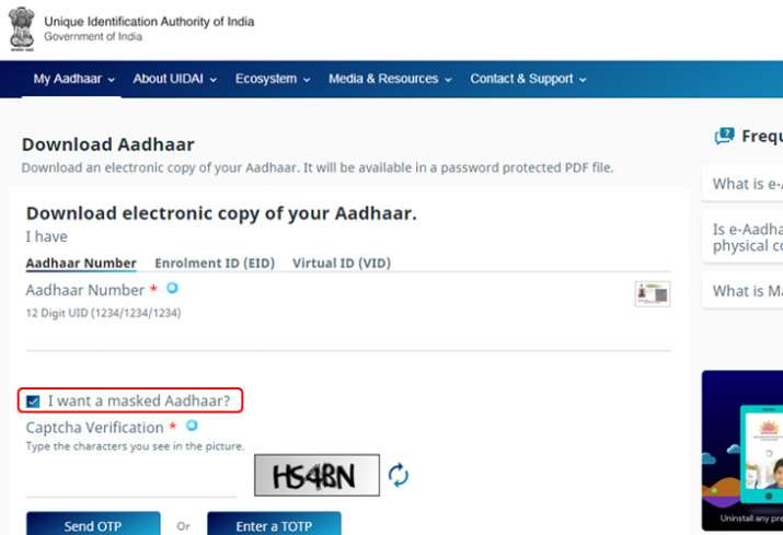 aadhar download password 2019