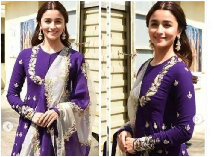 India Tv - Kalank actresses Alia Bhatt and Sonakshi Sinha look elegant in their ethnic avatars