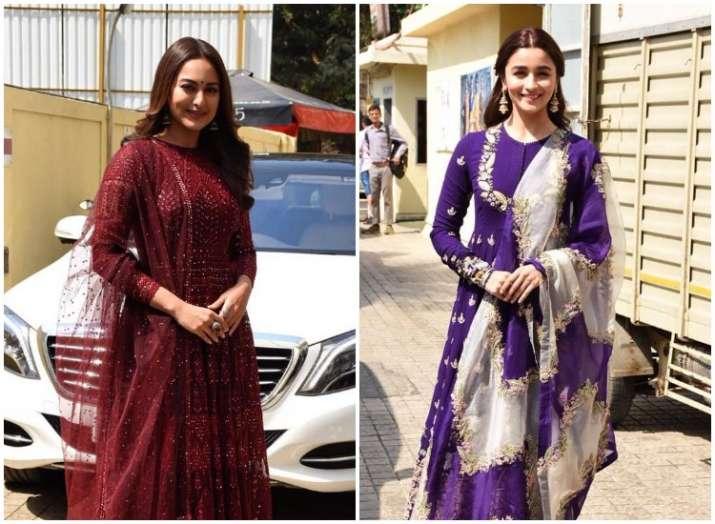 Kalank actresses Alia Bhatt and Sonakshi Sinha look elegant