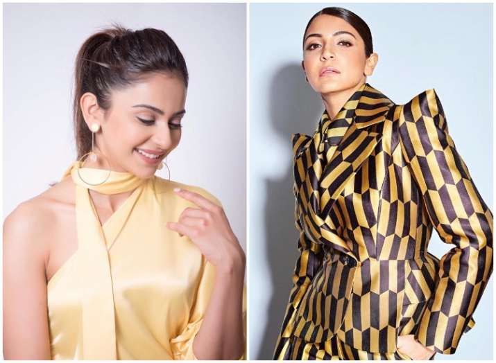 Whose yellow shines brighter-Is it Anushka Sharma or Rakul Preet Singh? Check out latest PICS!