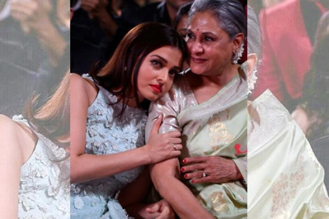 India Tv - Aishwarya Rai with Jaya Bachchan