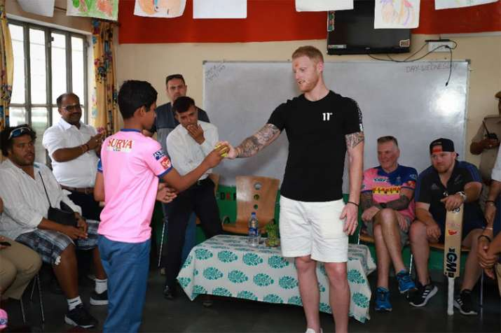 Rajasthan Royals all-rounder Ben Stokes bats for ending child labour in Jaipur