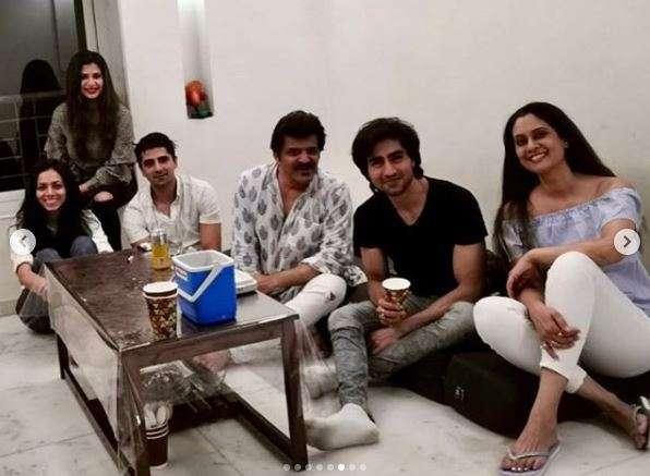 Harshad Chopda parties with Bepannaah cast minus Jennifer