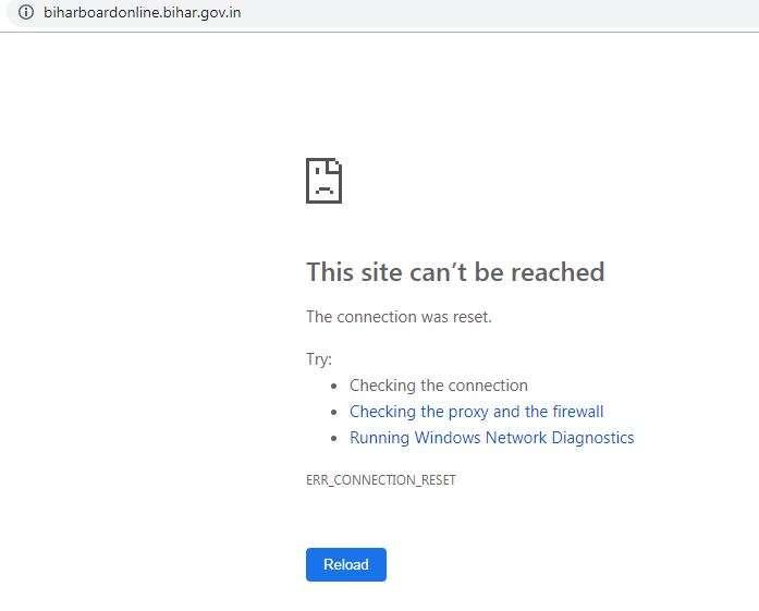 Website of Bihar Board result crashes