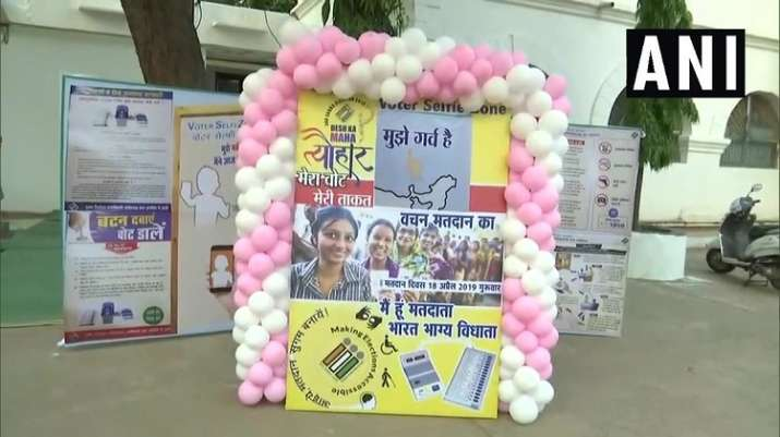 India Tv - Chhattisgarh: Latest visuals from a polling station in Rajnandgaon.