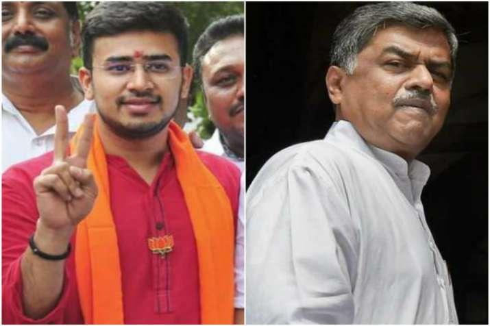 Tejasvi Surya andB K Hariprasad- File Photo