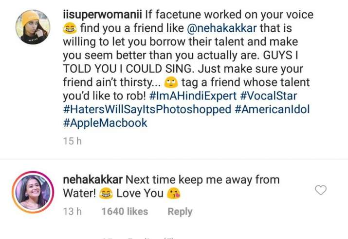 India Tv - Neha Kakkar's comments on Lilly Singh's post