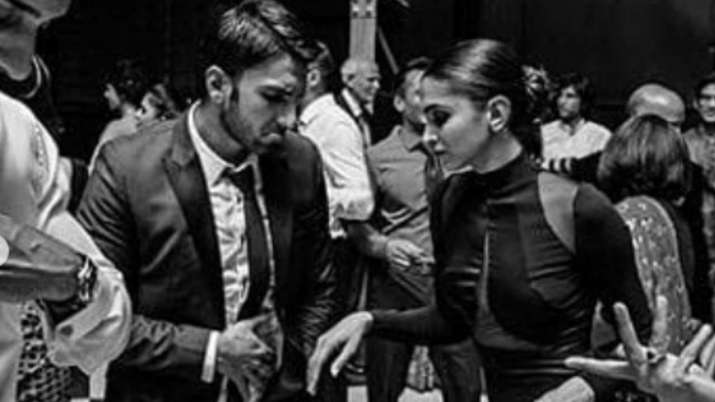 India Tv - Ranveer Singh and Deepika Padukone's UNSEEN black-and-white pictures from Sri Lanka going VIRAL