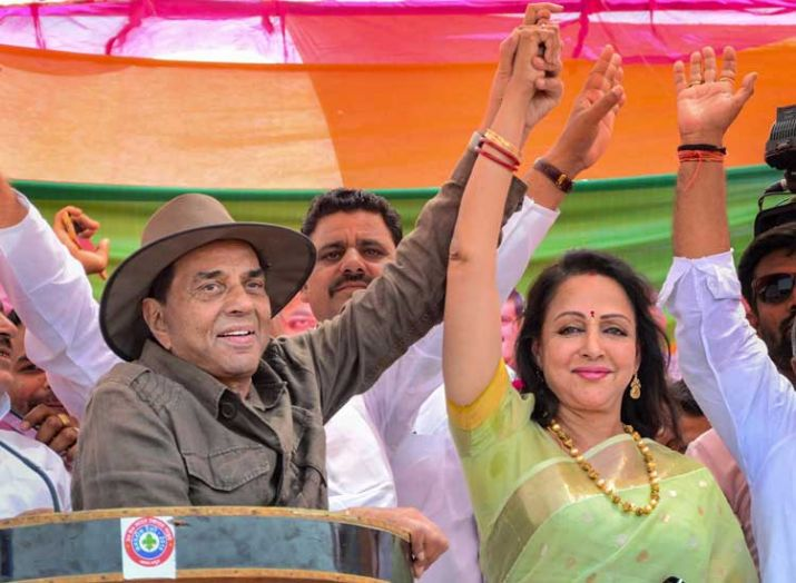 Dharmendra hits Lok Sabha election campaign trail in