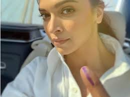 Proud Indian Deepika Padukone casts her vote, clears
