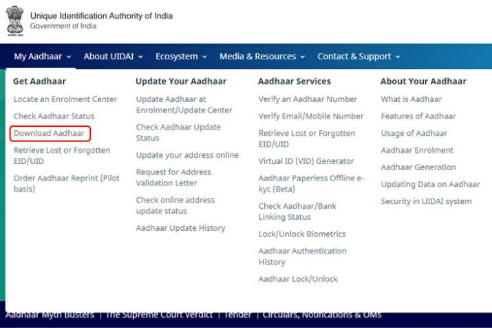 Aadhar Card Download by aadhaar number only, How To Download Aadhar