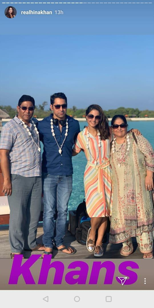 India Tv - Hina Khan and family