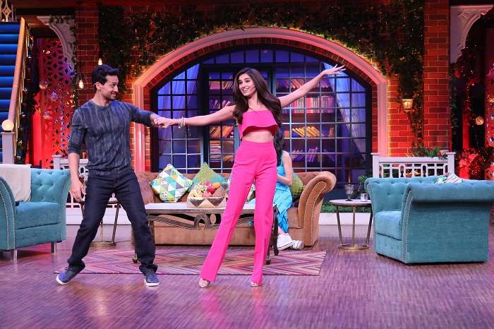 India Tv - Tara Sutaria and Tiger Shroff at The Kapil Sharma Show