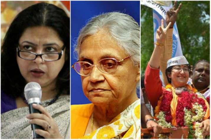 Meenakshi Lekhi,Sheila Dikshit and Atishi Marlena
