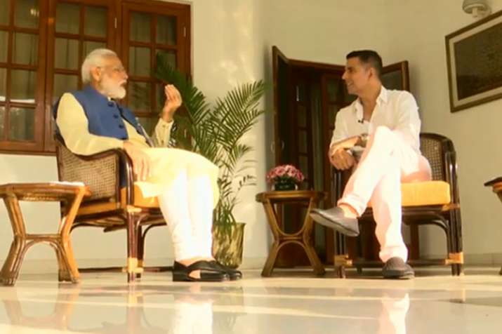Image result for pm modi with akshay kumar