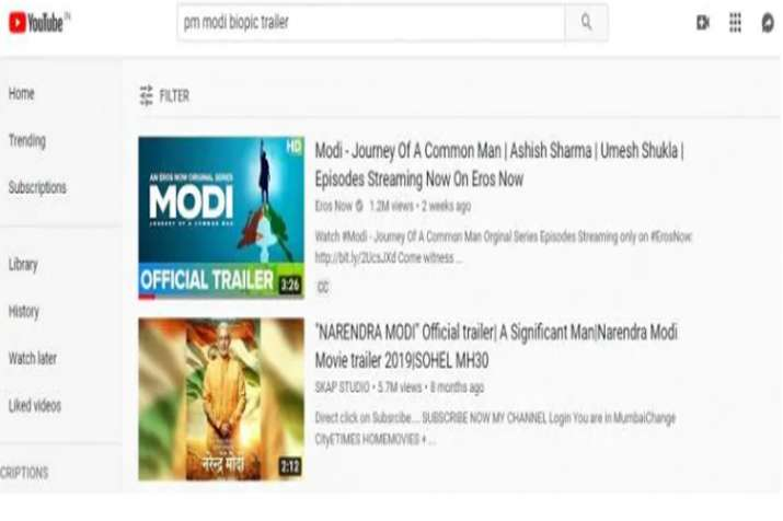 India Tv - Vivek Oberoi starrer PM Narendra Modi biopic's official trailer is not on YouTube anymore