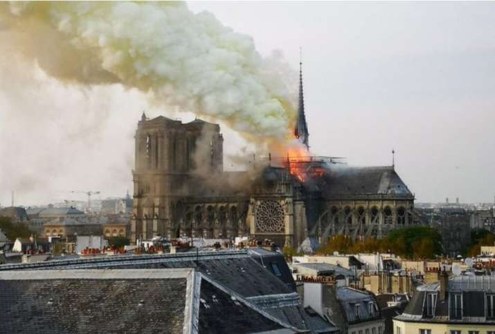 850-year-old gothic cathedral Notre-Dame in Paris has