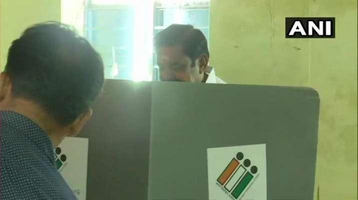 India Tv - Tamil Nadu: CM Edappadi K Palanisamy cast his vote at a polling station in Edappadi, Selam.