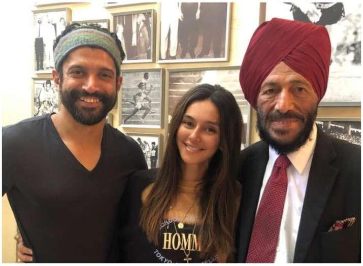 Pic: When reel Milkha Farhan Akhtar and Shibani Dandekar