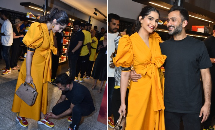 Sonam Kapoor Anand Ahuja at a launch event
