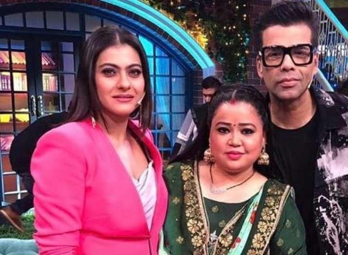 BFFs Kajol and Karan Johar shoot for The Kapil Sharma Show
