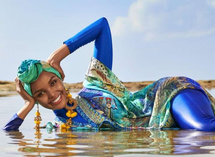 Halima Aden features on Sports Illustrated wearing burkini and hijab