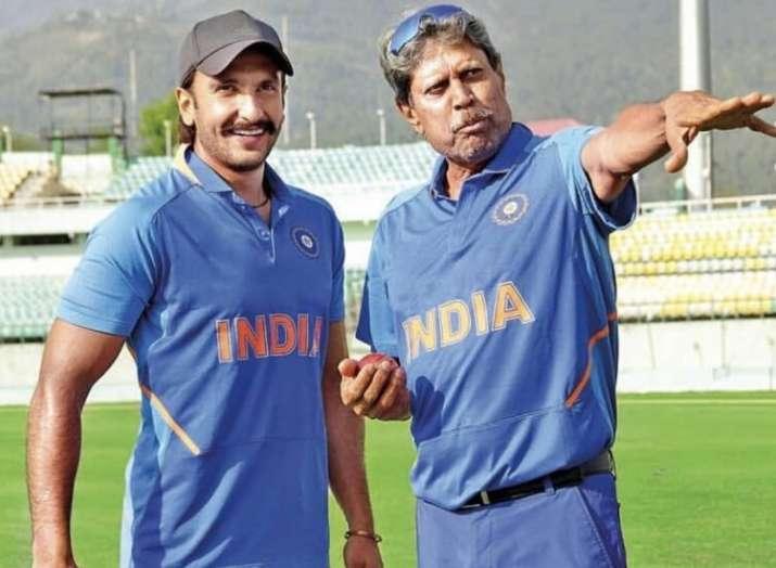 India Tv - Ranveer Singh with Kapil Dev in 83