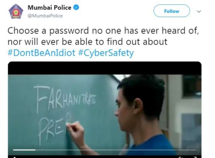 India Tv - Mumbai Police sought help from Aamir Khan's 3 Idiots movie to promote Cyber Safety