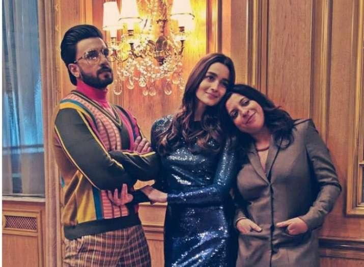 India Tv - Ranveer Singh and Alia Bhatt with Zoya Akhtar.